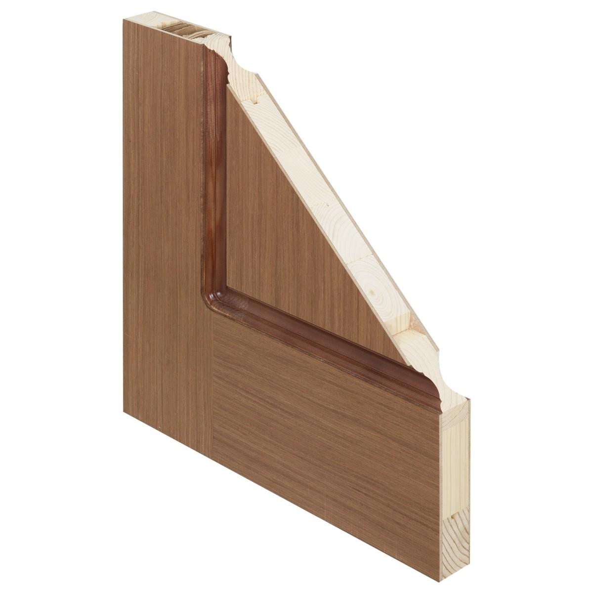 Дверь межкомнатная глухая Классика 80x200 см шпон цвет орех