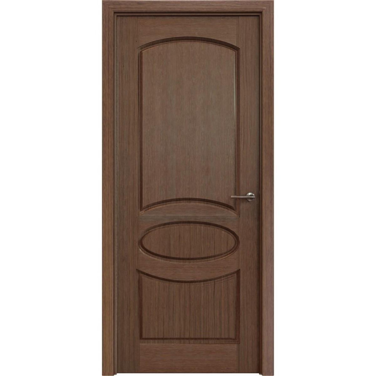 Дверь Межкомнатная Глухая Классика 80x200 Шпон Цвет Орех