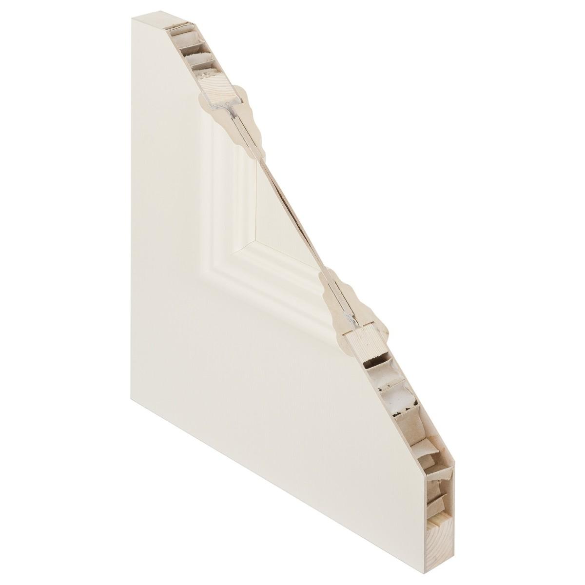 Дверь межкомнатная глухая Франческа 80x200 см эмаль цвет слоновая кость