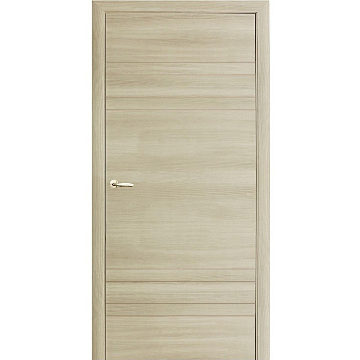 Дверное полотно глухое Модерн 70x200 см ламинация королевский орех светлый