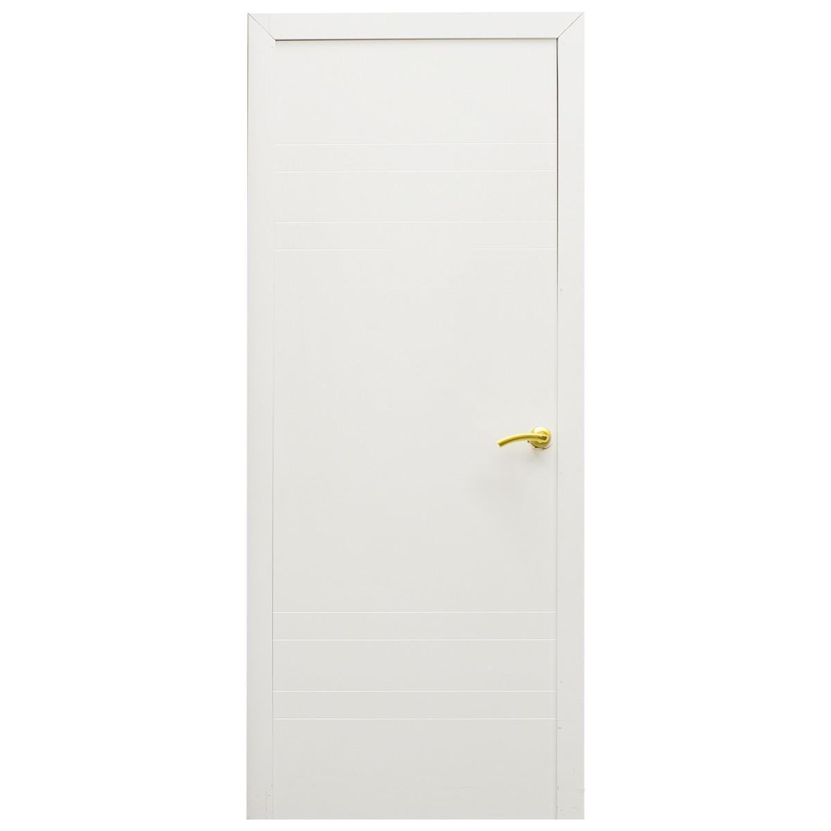 Дверь Межкомнатная Глухая Модерн 60x200 Ламинация Цвет Белый