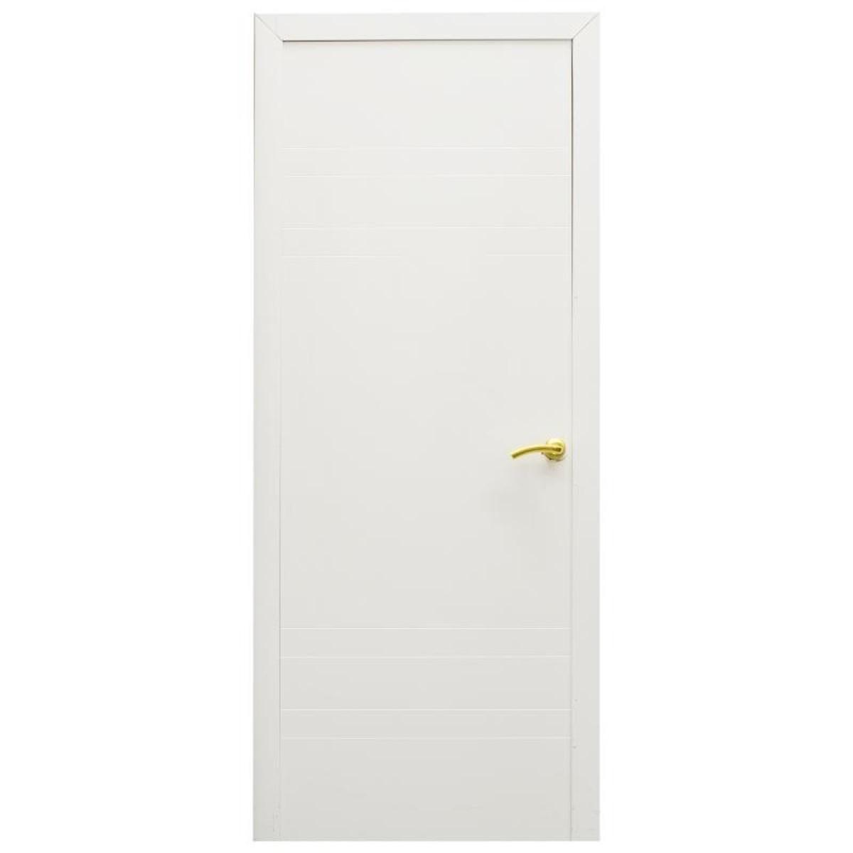 Дверь Межкомнатная Глухая Модерн 80x200 Ламинация Цвет Белый