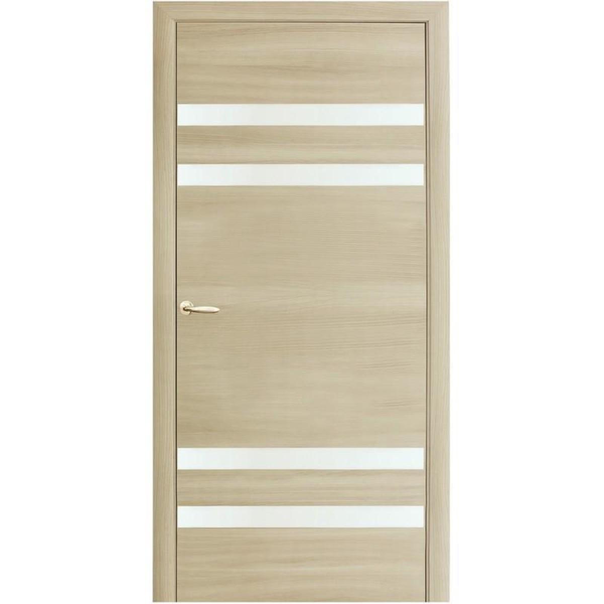 Дверное полотно остекленное Модерн 60x200 см ламинация королевский орех светлый