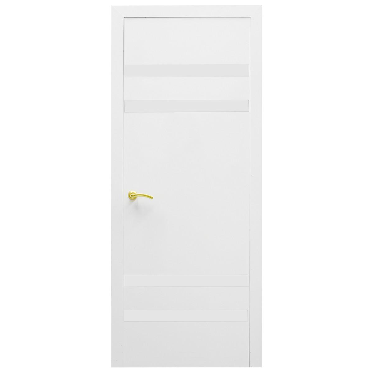 Дверь межкомнатная остеклённая Модерн 60x200 см ламинация цвет белый