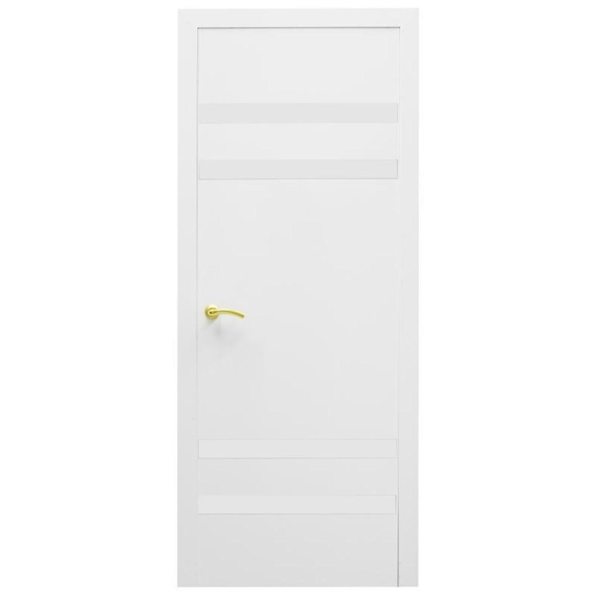 Дверь межкомнатная остеклённая Модерн 90x200 см ламинация цвет белый