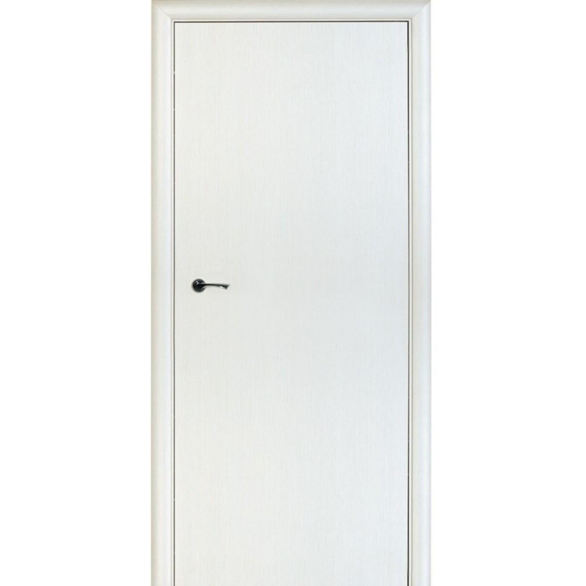 Дверь Межкомнатная Глухая Стандарт 80x200 Ламинация Цвет Бьянко 3d