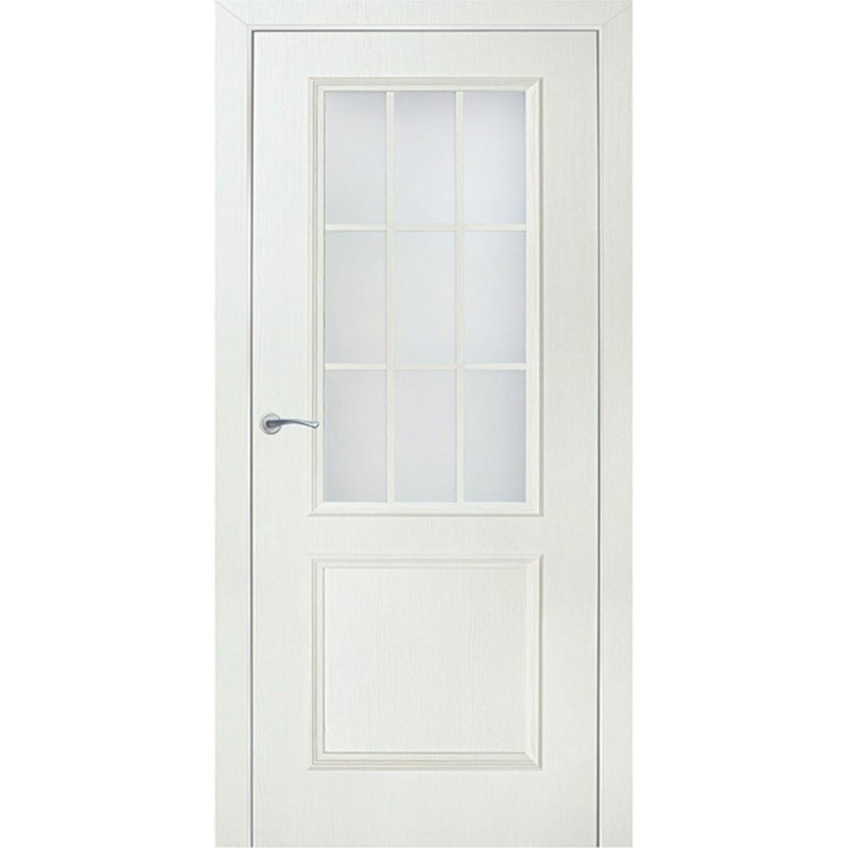 Дверь Межкомнатная Остеклённая Altro 90x200 Ламинация Цвет Бьянко 3d