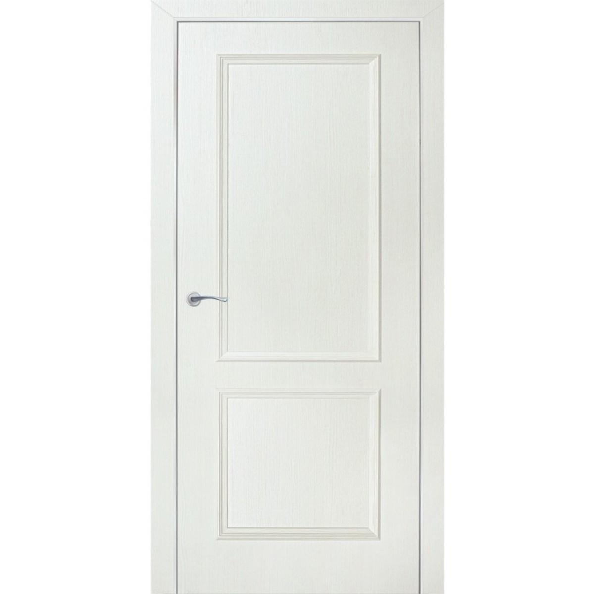 Дверь межкомнатная глухая Altro 80x200 см ламинация цвет бьянко 3D