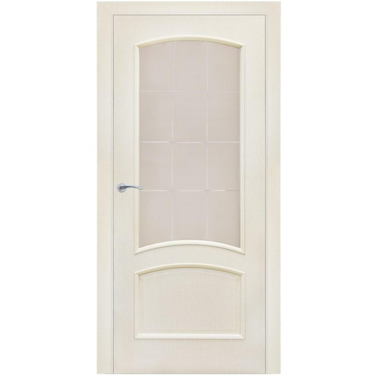Дверь межкомнатная остеклённая Bravo 90x200 см ламинация цвет меланж