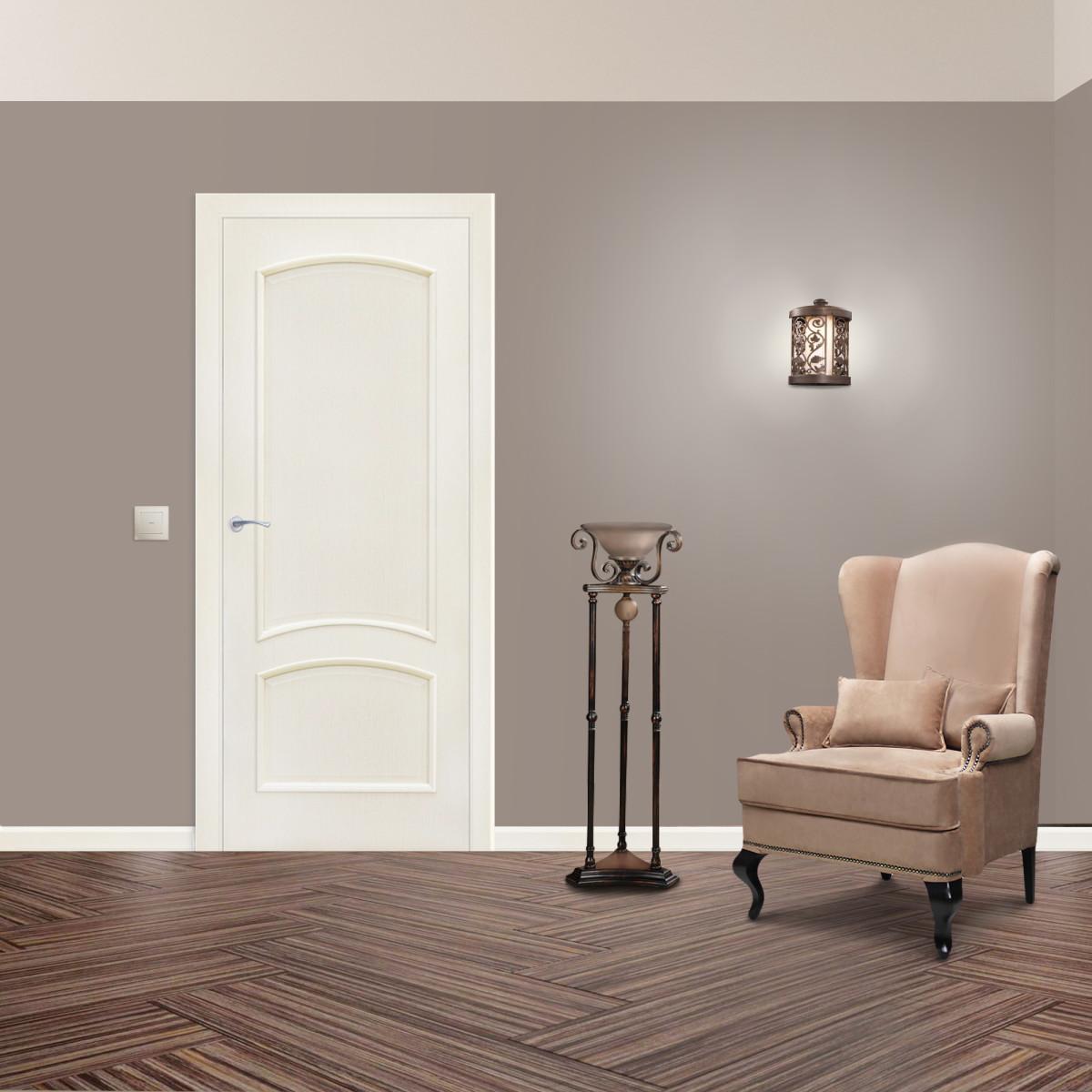 Дверь Межкомнатная Глухая Bravo 60x200 Ламинация Цвет Меланж