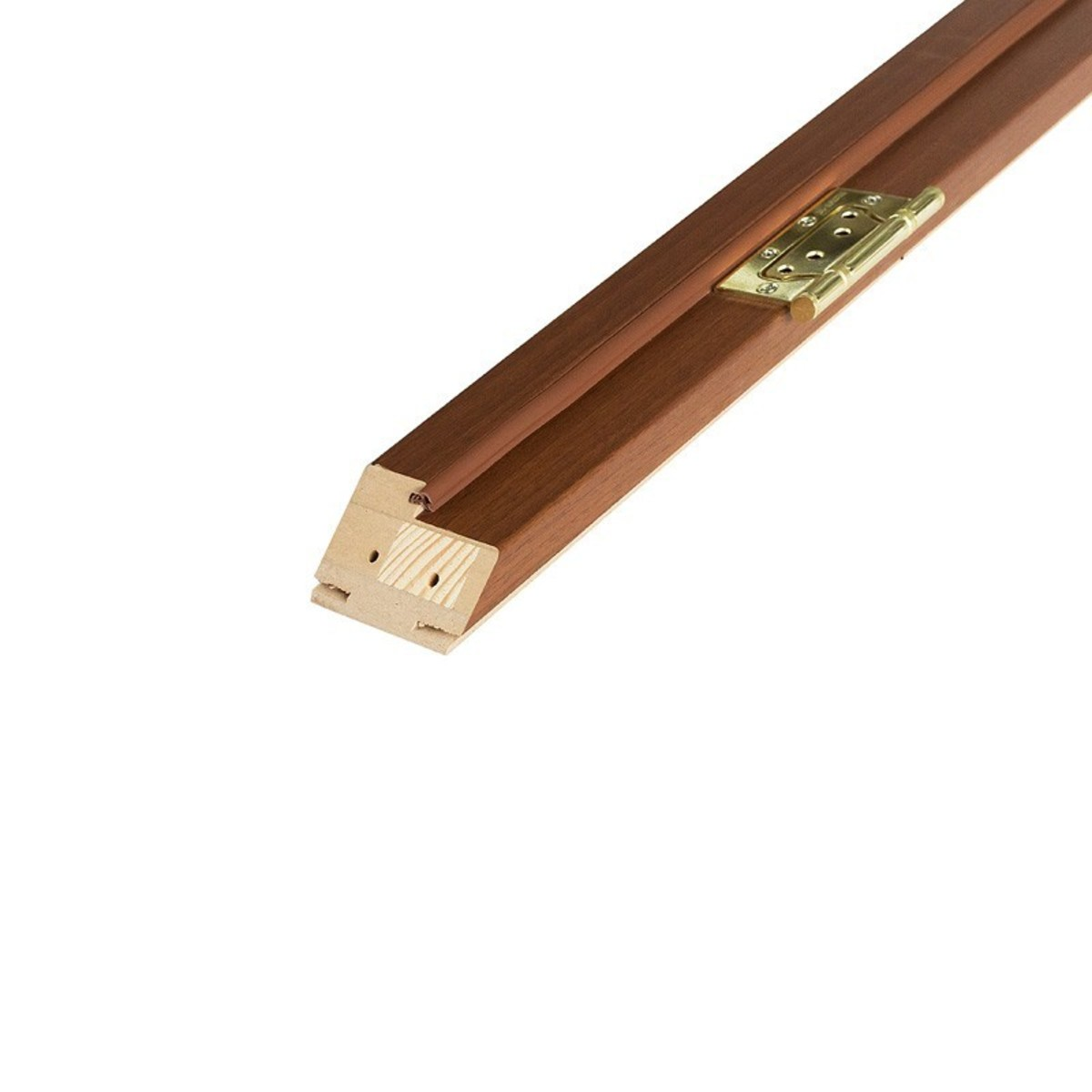 Брус коробочный узкий 80x210 см ламинация цвет орех