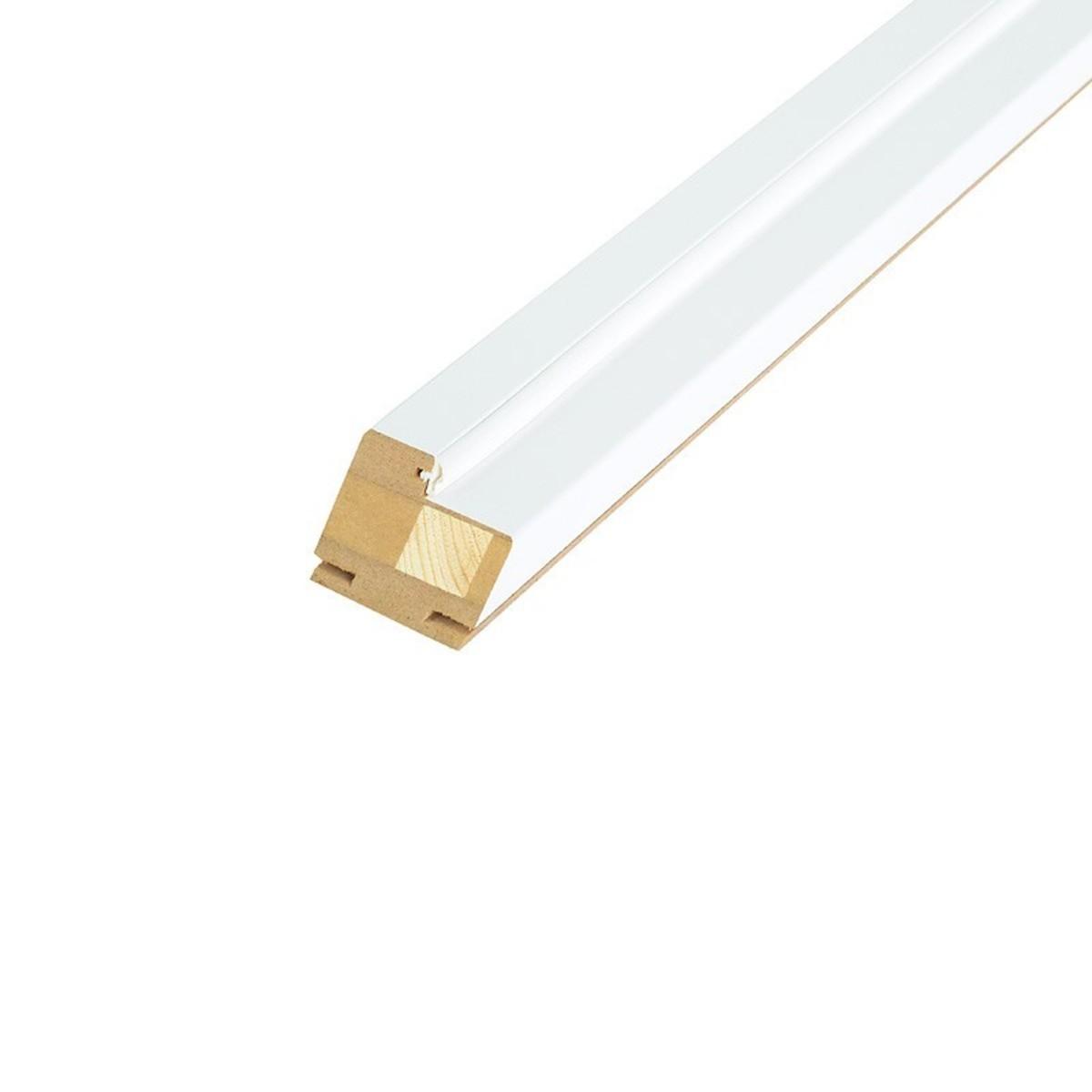 Брус коробочный узкий 80x210 см ламинация цвет белый