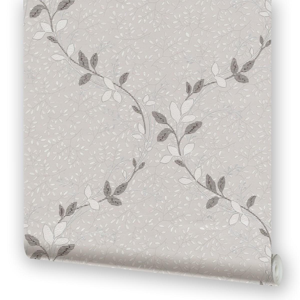 Обои бумажные 0.53х10.05 м растения цвет серый МОФ 329462-4