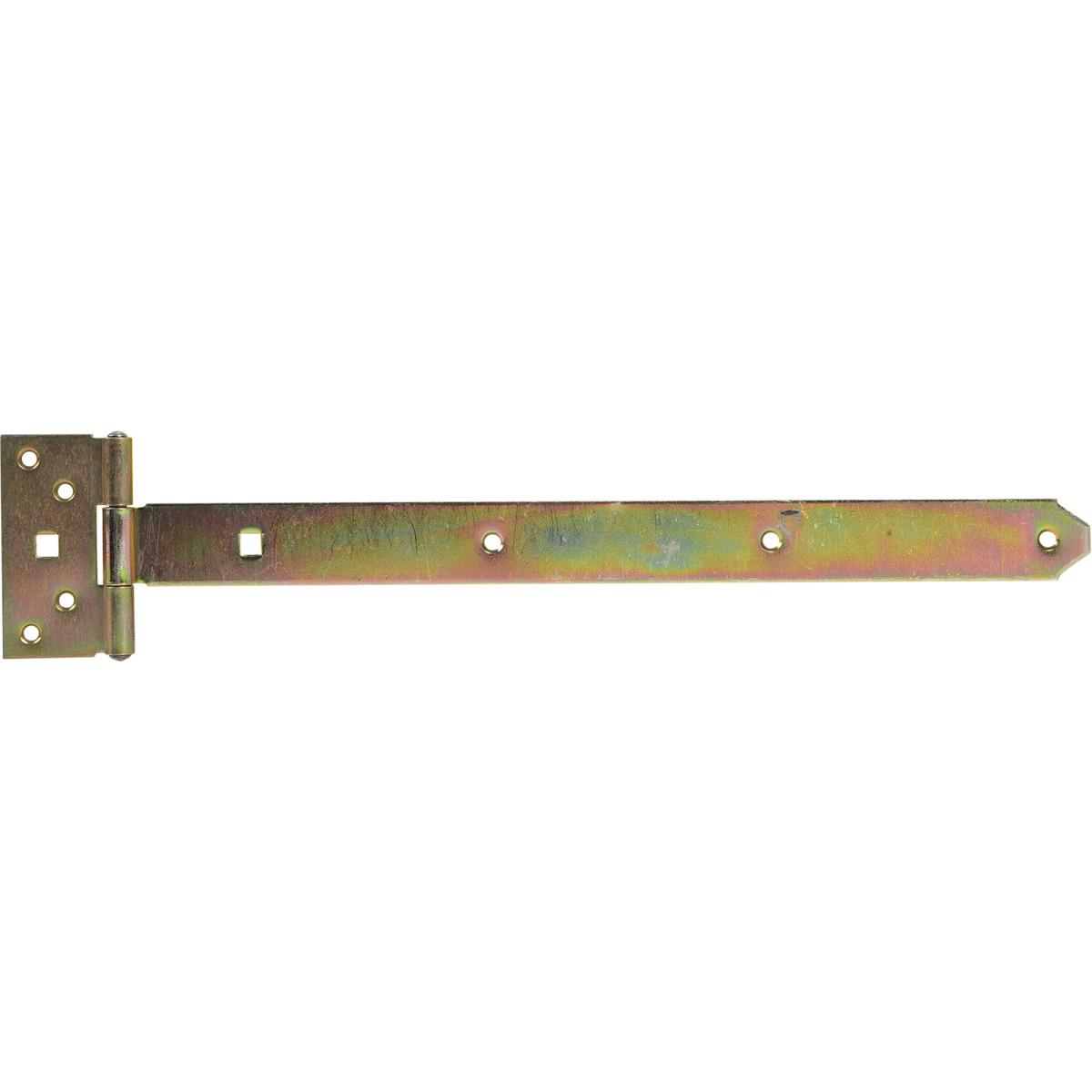Петля воротная T-образная оцинкованная 393/45x92/34 мм