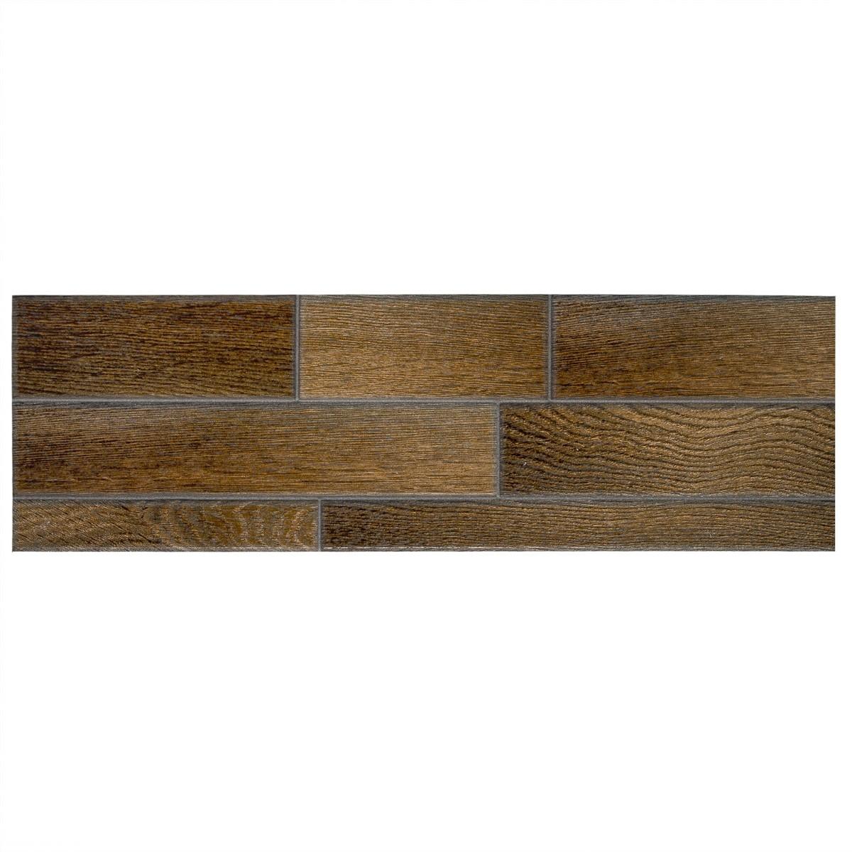 Плитка универсальная Dream 15х50 см 1.05 м2 цвет коричневый