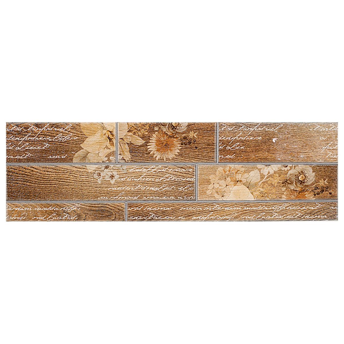 Декор Dream керамогранит цвет коричневый 15х50 см 105 м2