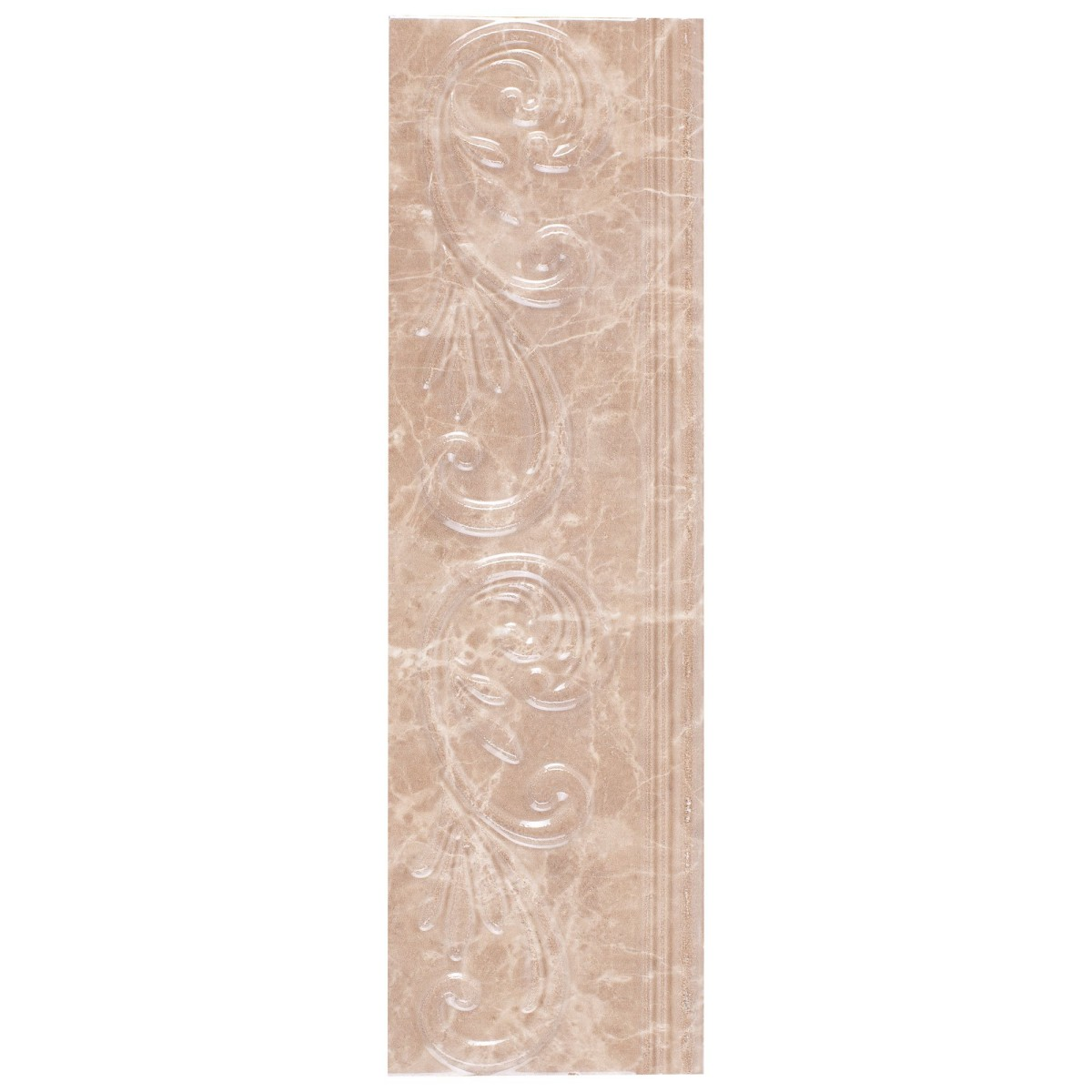 Бордюр Golden Tile «Lorenzo Modern» 30х9 см цвет темно-бежевый
