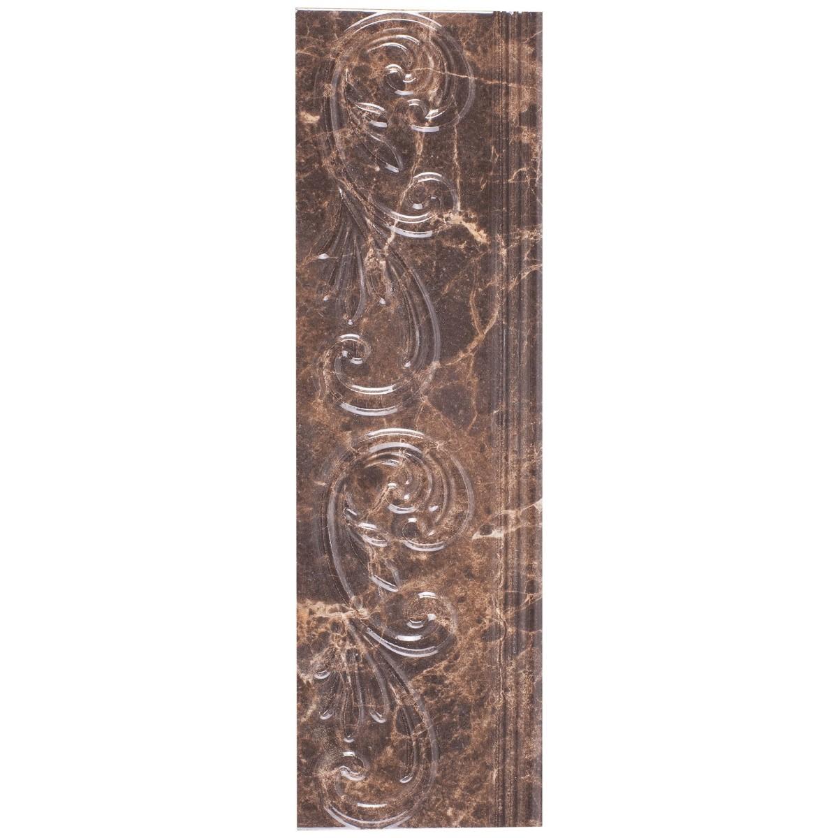 Бордюр Golden Tile «Lorenzo Modern» 30х9 см цвет коричневый