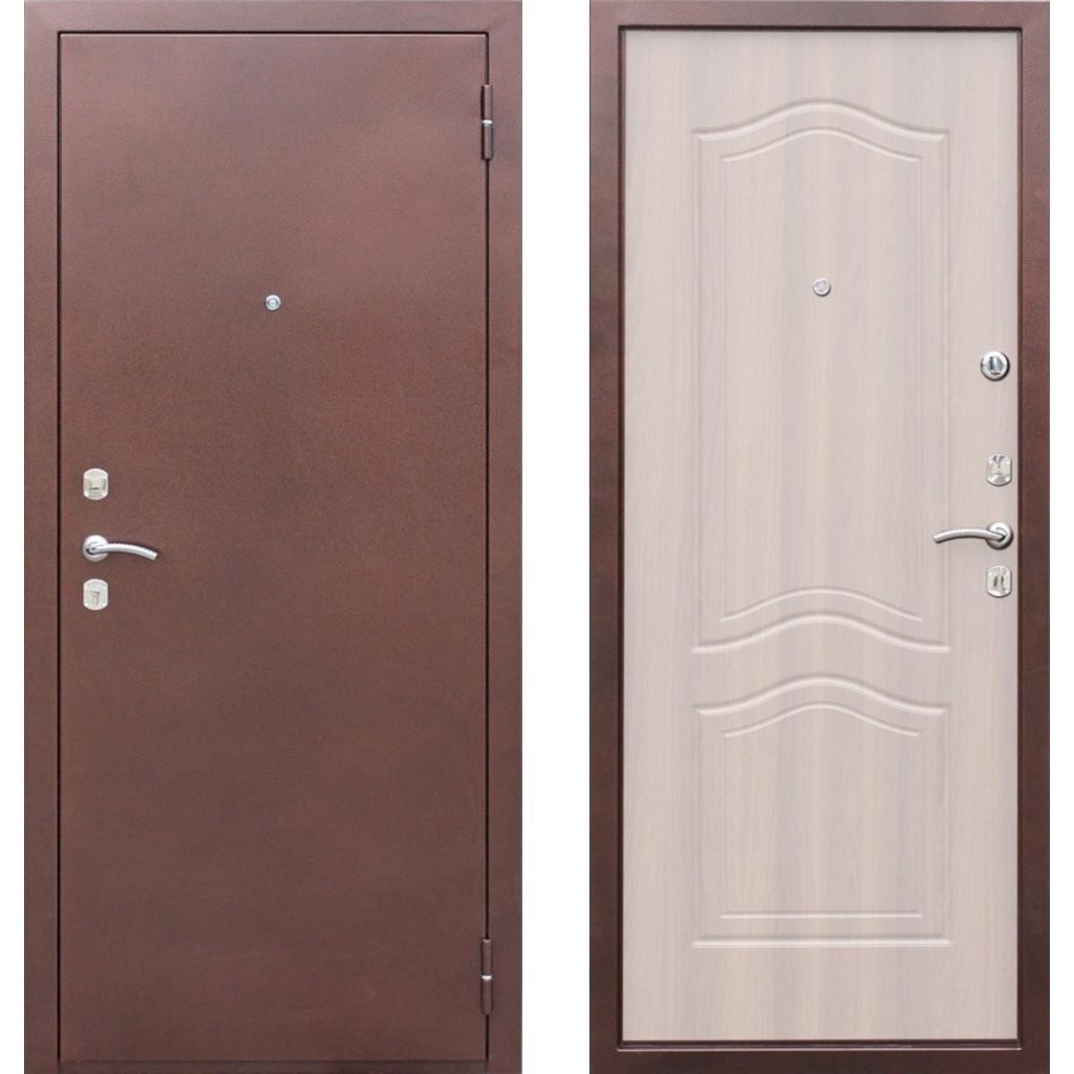 Дверь входная металлическая Гарда 1512 960 мм правая цвет белёный дуб
