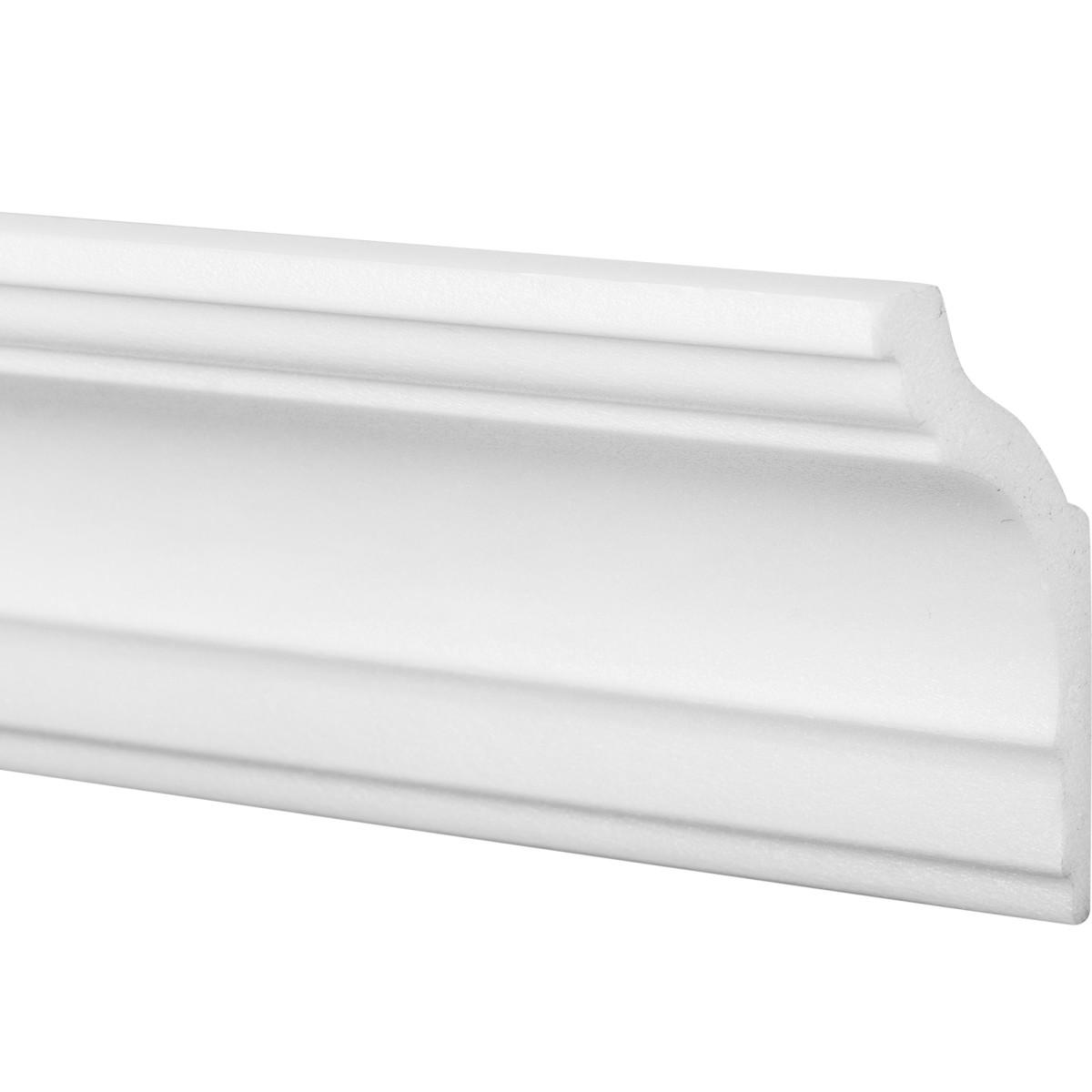 Плинтус для натяжных потолков экструдированный полистирол белый Inspire 08018А 4х7х200 см