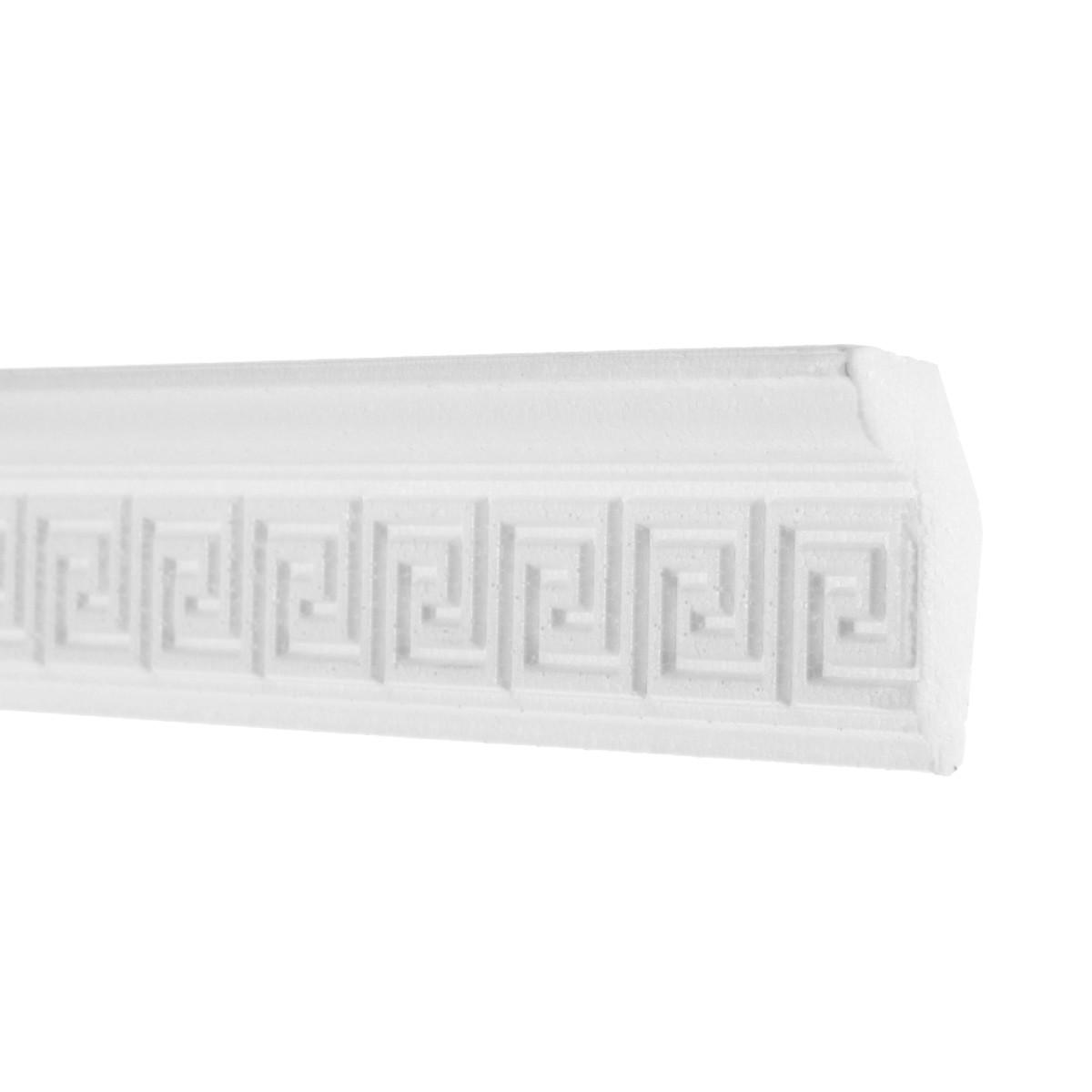 Плинтус для натяжных потолков полистирол белый Формат 206059 2.9х5.3х200 см