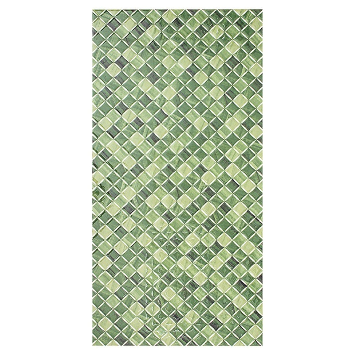 Плитка настенная Симфония 25x50 см 1.25 м2 цвет зеленый