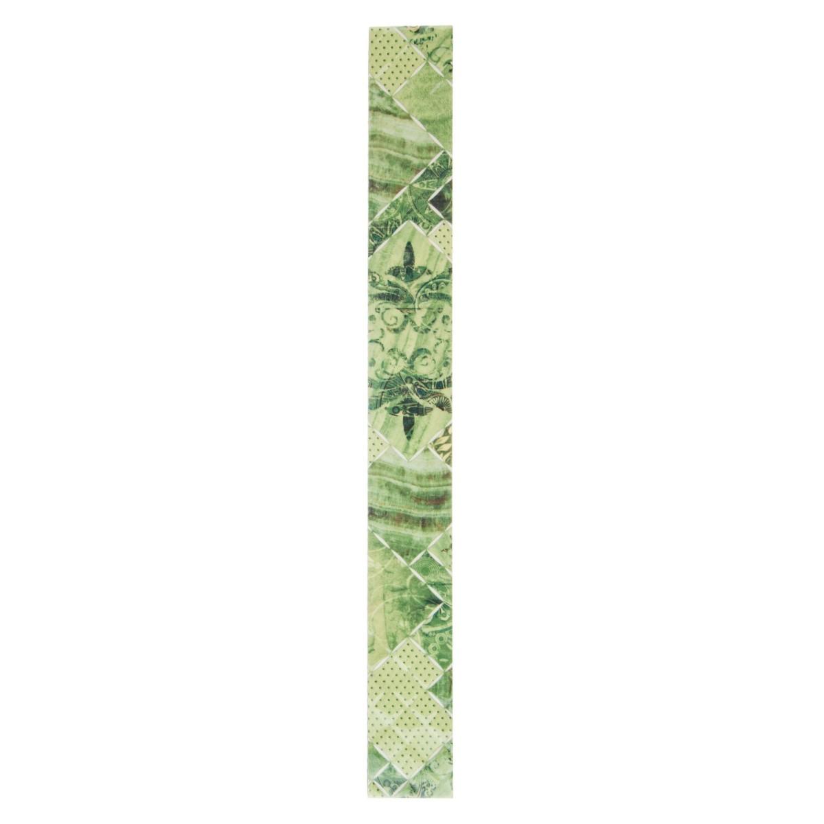 Бордюр «Симфония» 5.4х50 см цвет зелёный