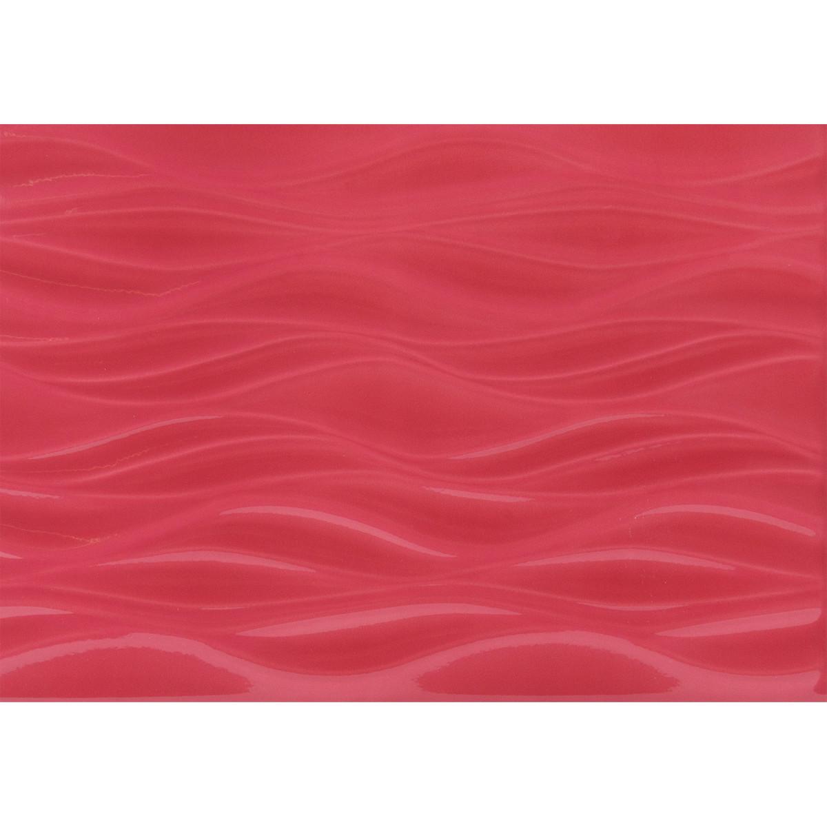Плитка настенная Орхидея низ 28х40 см 1.232 м2 цвет красный