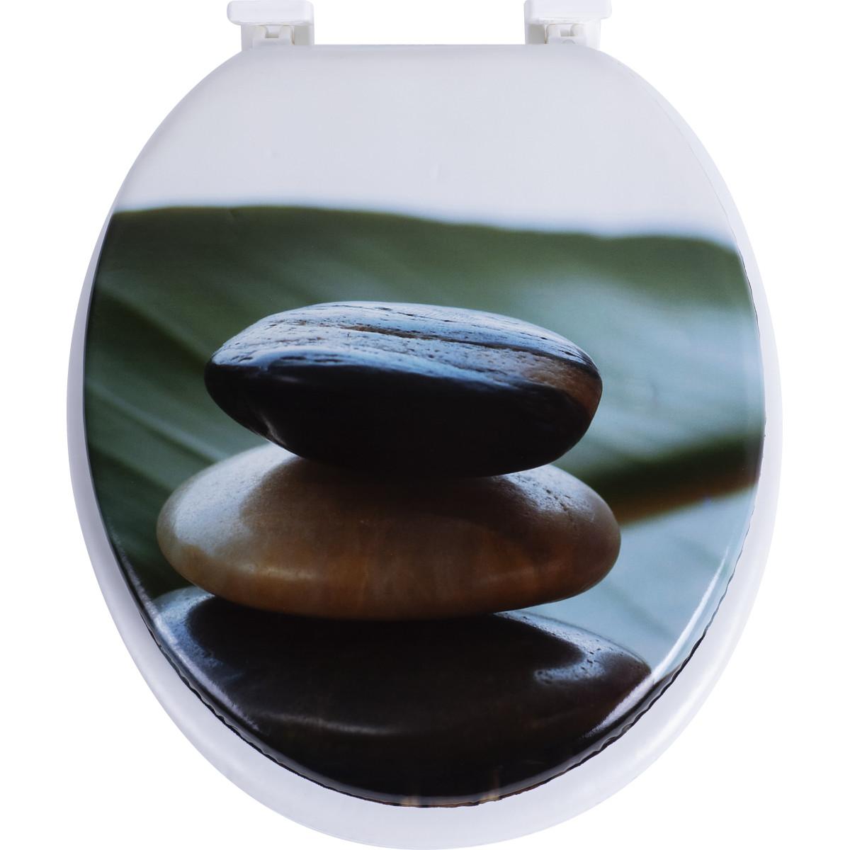 Сиденье мягкое для унитаза Камни