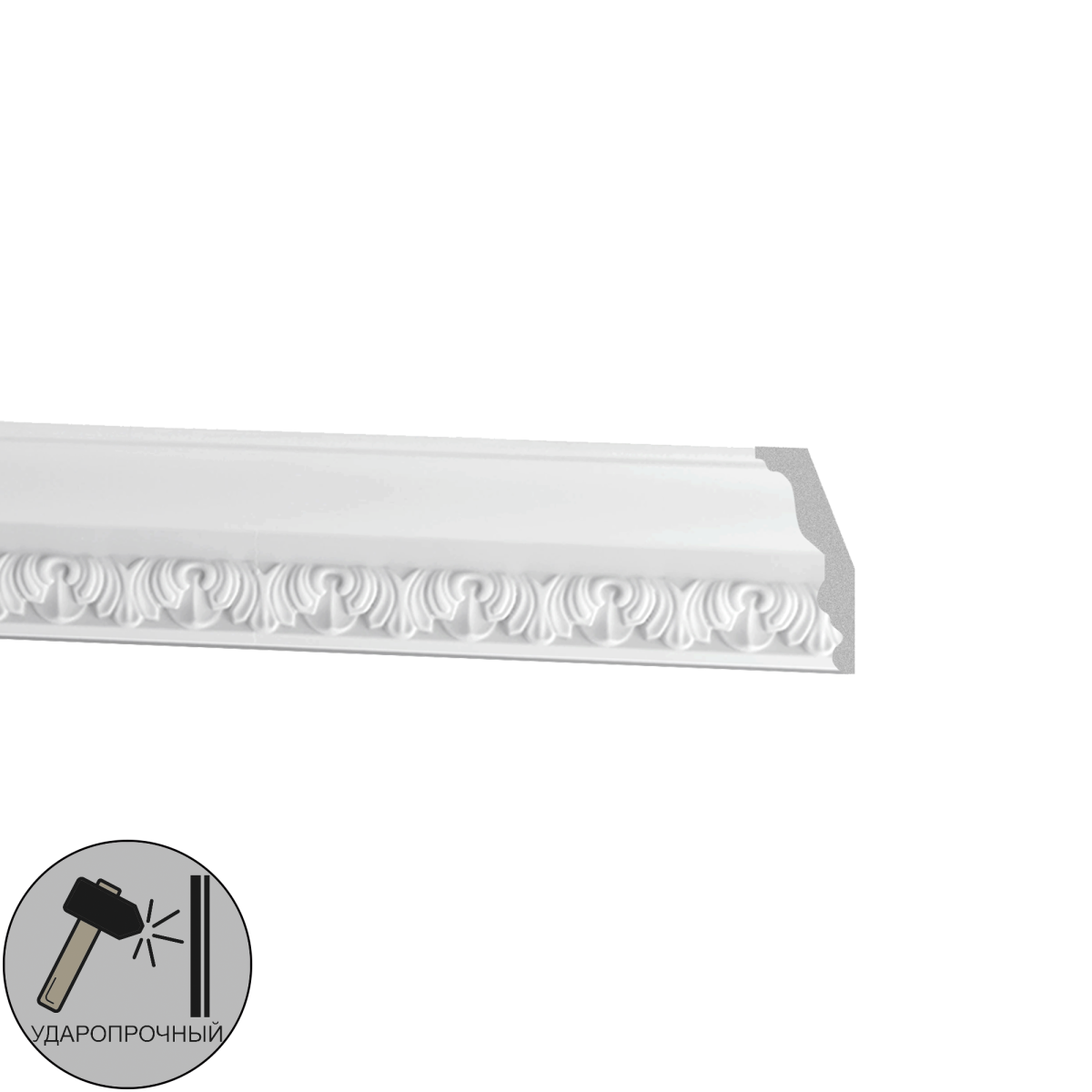 Плинтус потолочный полиуретан Decomaster DT 33 белый 3.5х8.7х200 см