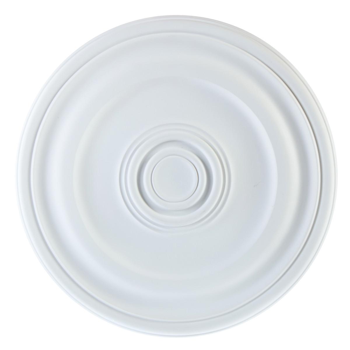 Розетка потолочная полиуретан Decomaster DM-0402 белая диаметр 40.3 см