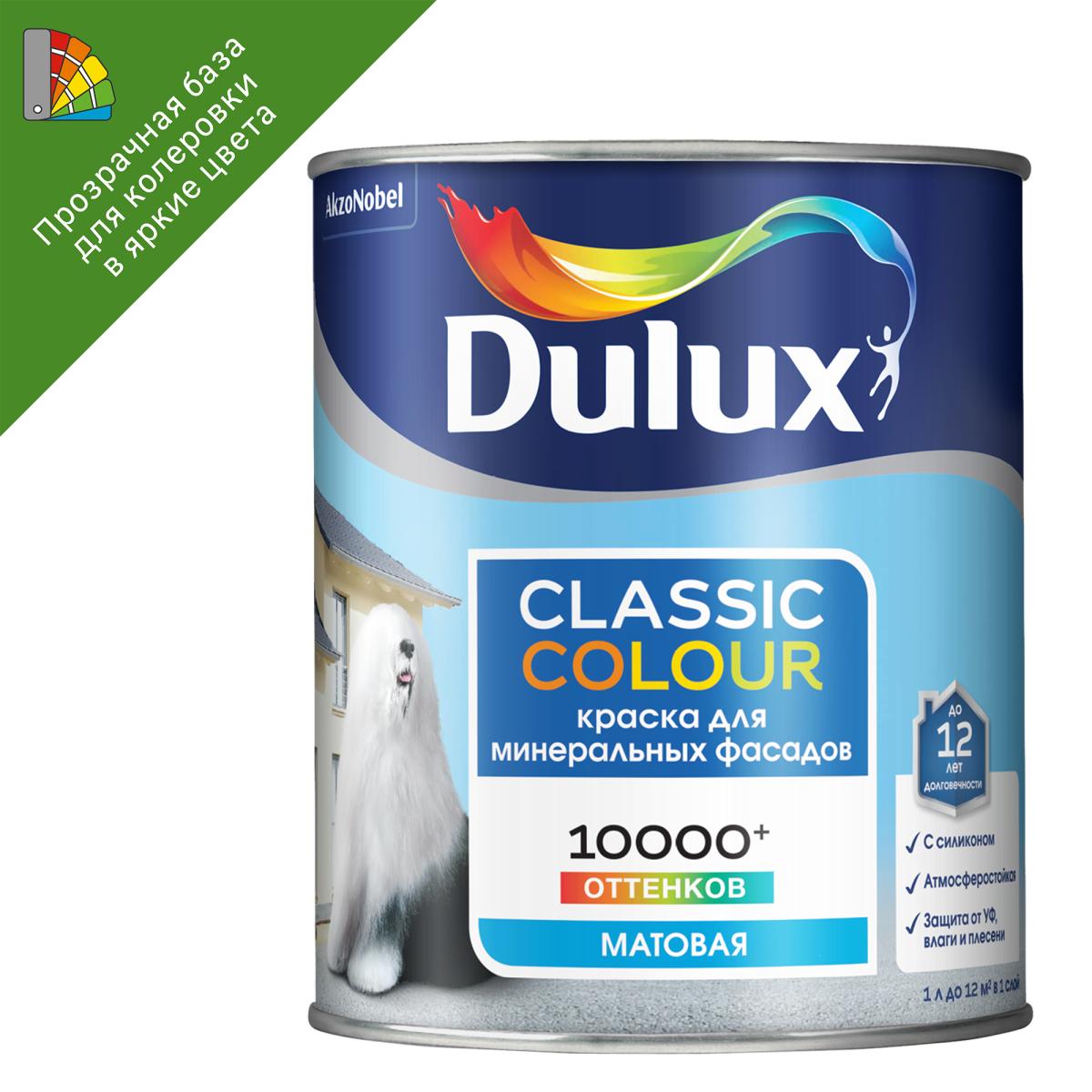 Краска для колеровки фасадная Dulux Classic Colour прозрачная база BC 0.9 л