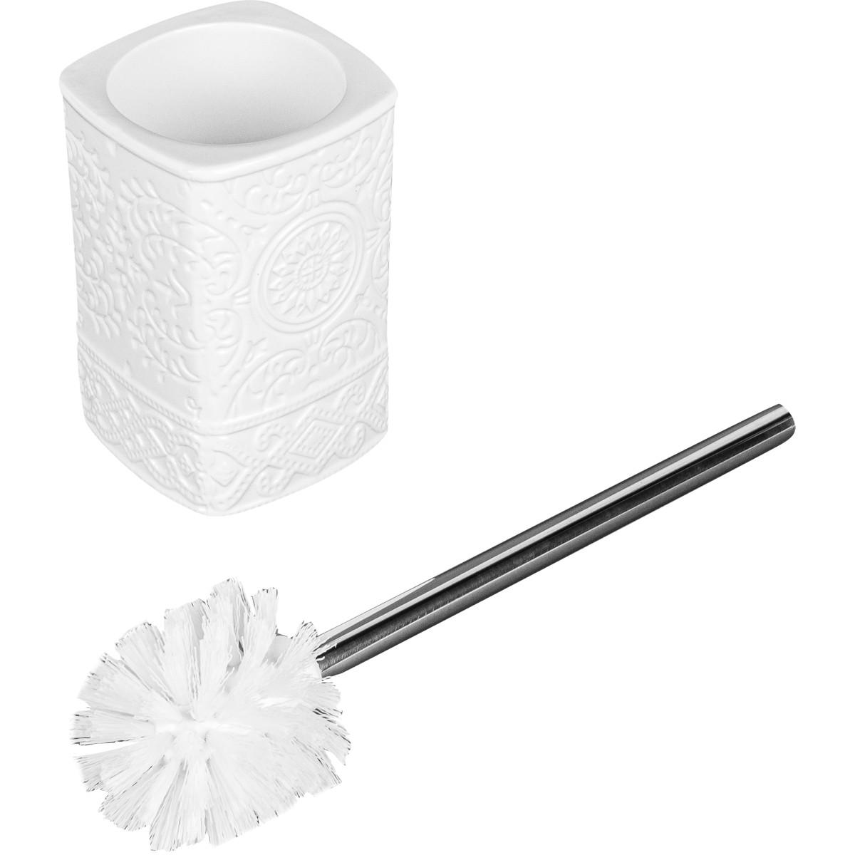Ёршик Для Унитаза Напольный «Ажур» Керамика Цвет Белый