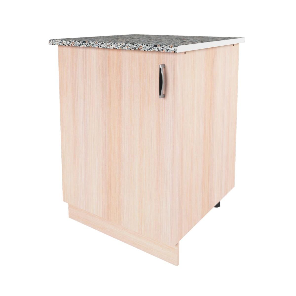 Шкаф напольный Дуб молочный См 86х60 см ЛДСП цвет дуб