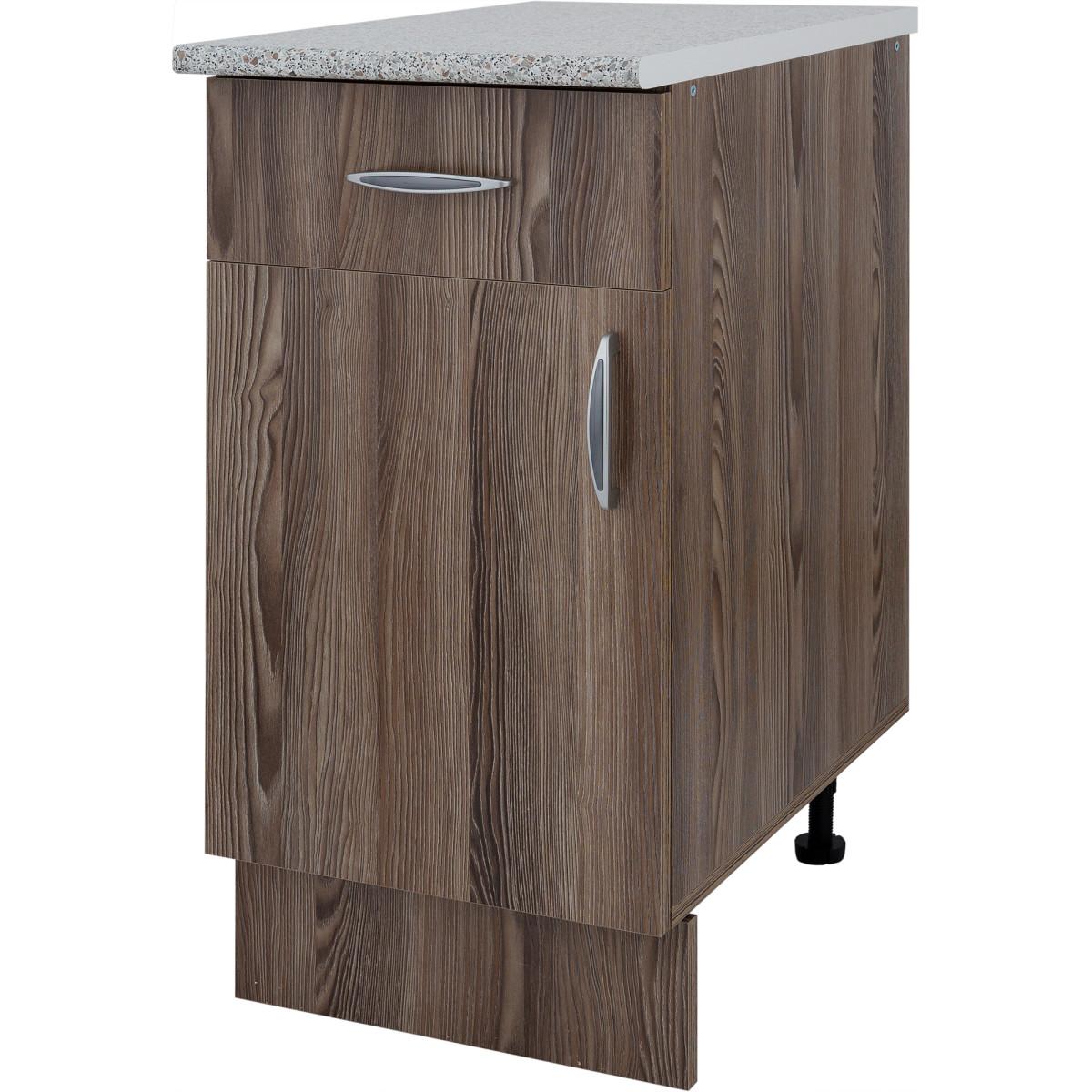 Шкаф напольный Дуб шато Сп с фасадом и одним ящиком 85х40 см ЛДСП цвет дуб