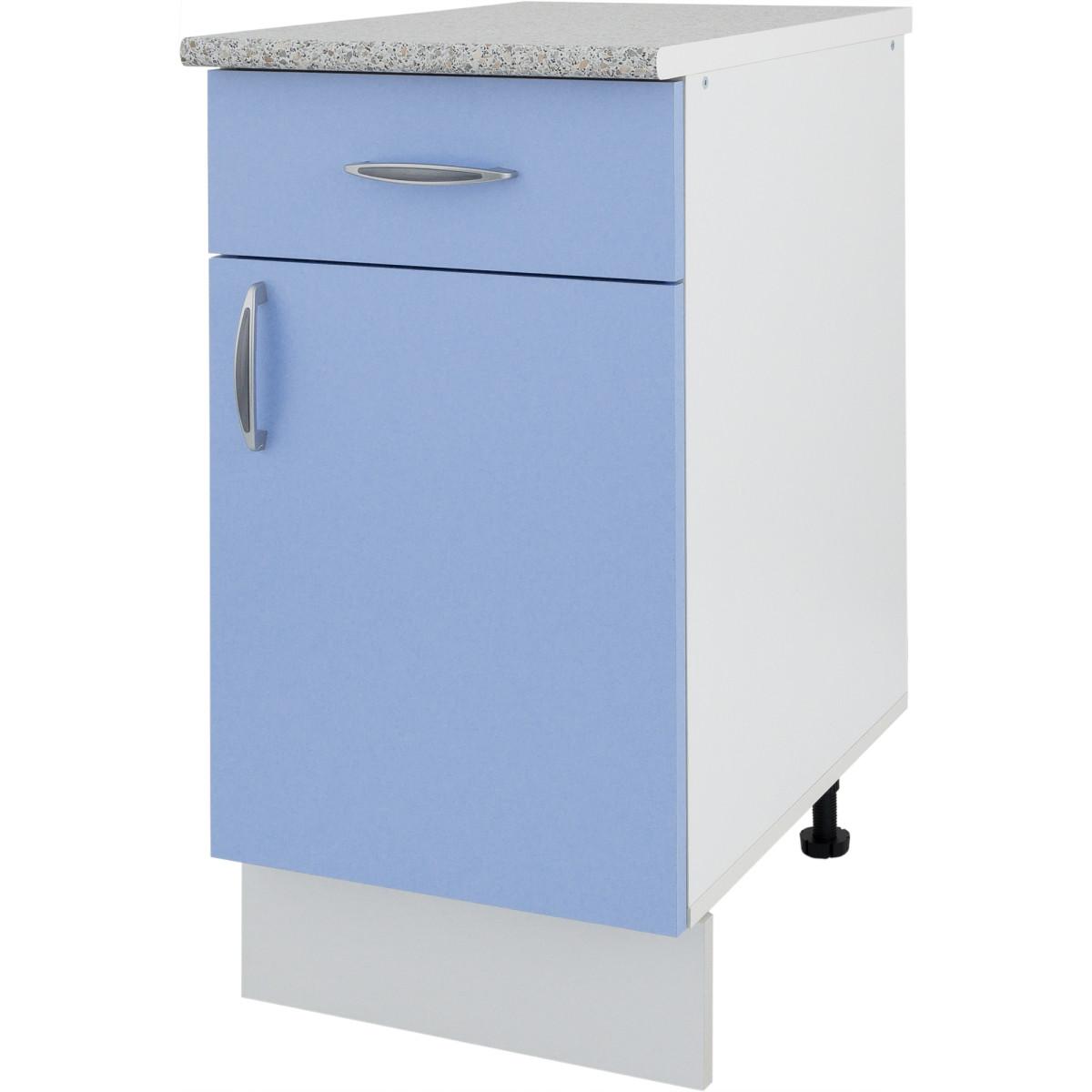 Шкаф напольный Лагуна Сп с фасадом и одним ящиком 85х40 см цвет голубой
