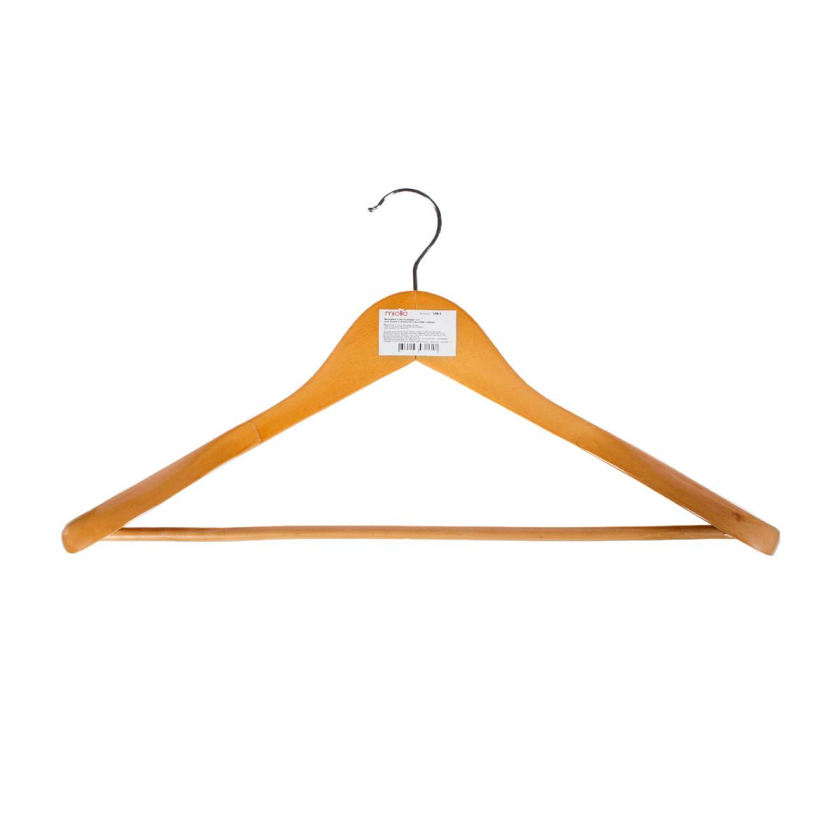 Плечики для верхней одежды широкие размер 50-52 см дерево