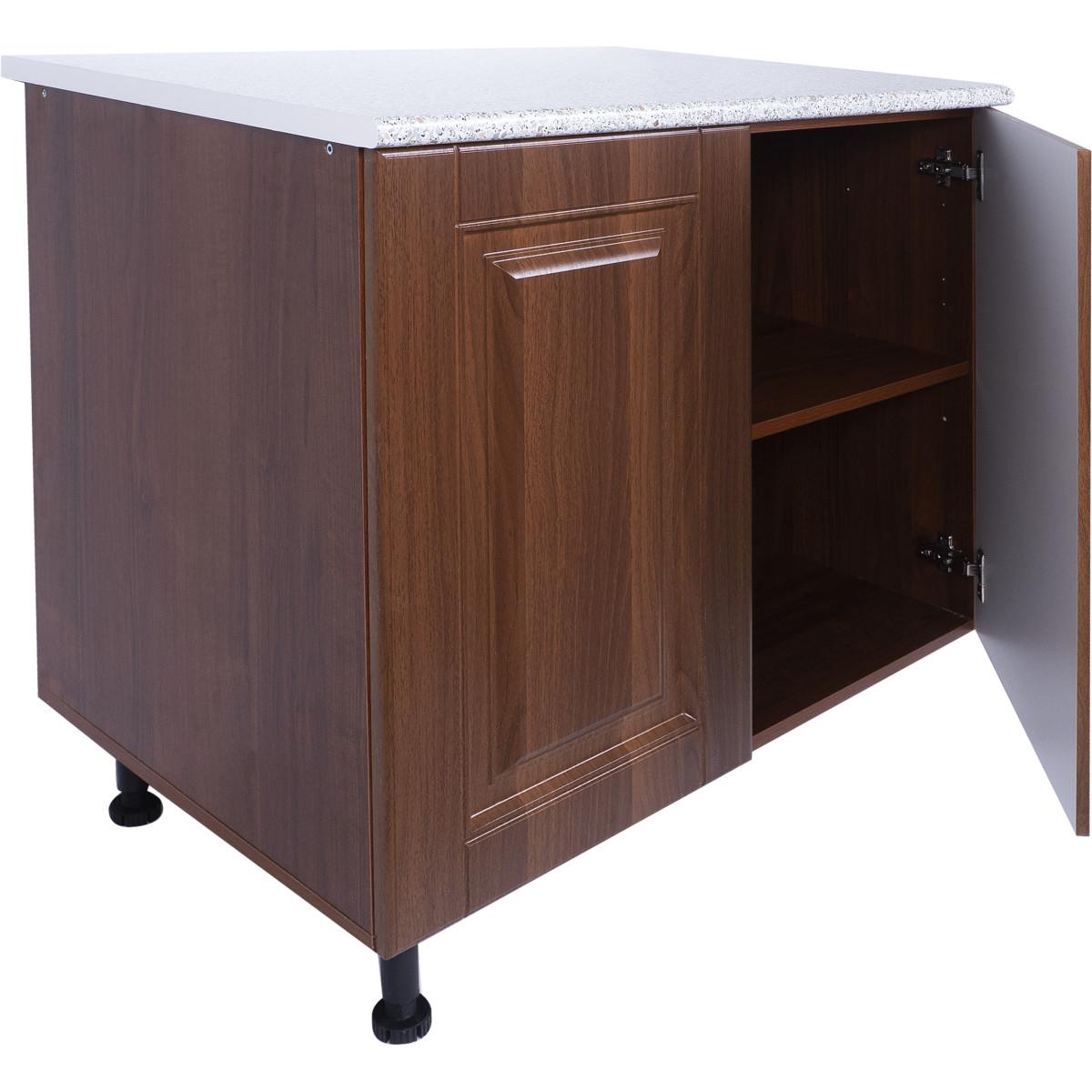 Шкаф напольный Орех Р 85х80 см МДФ цвет орех