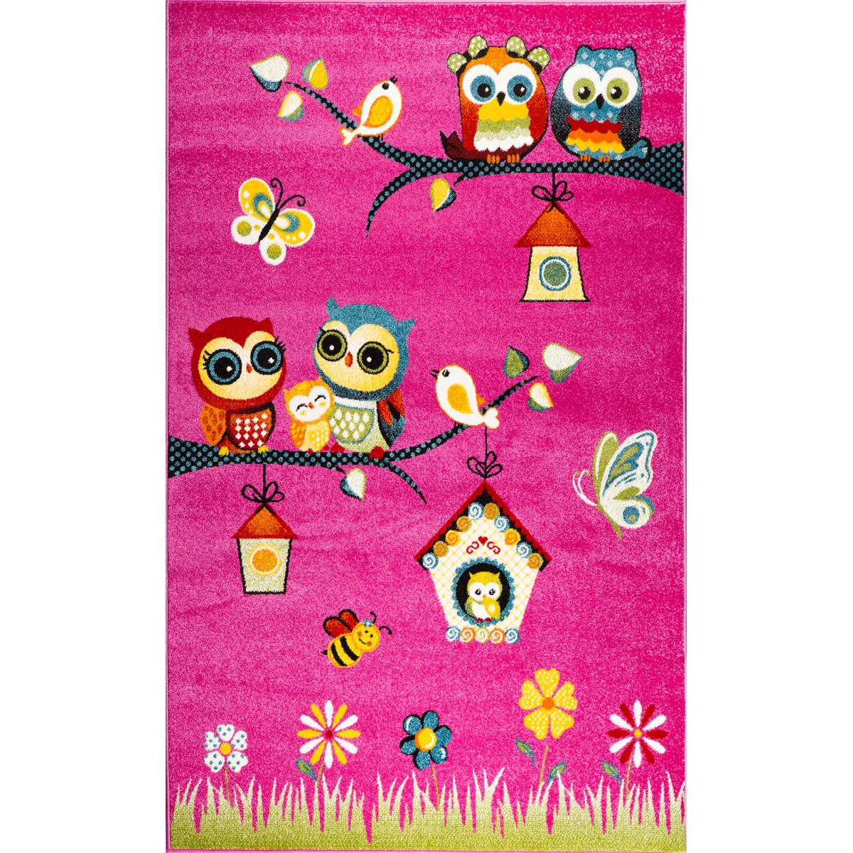 Ковёр Art Kids LM05 1.5x2.3 м цвет розовый