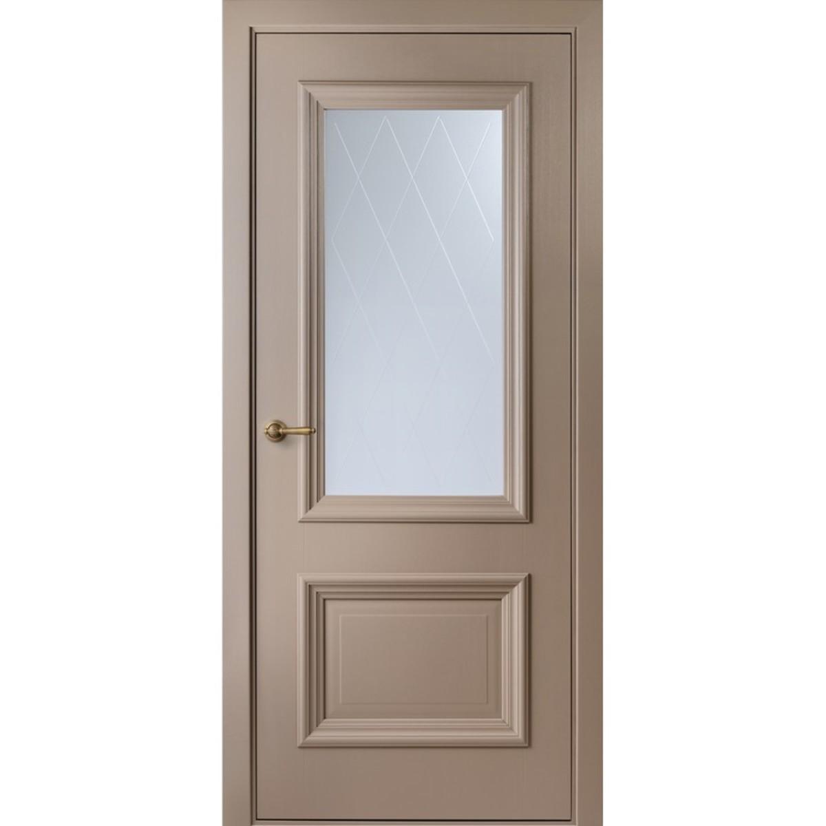 Дверь межкомнатная остеклённая Франческа 80x200 см эвопро капучино