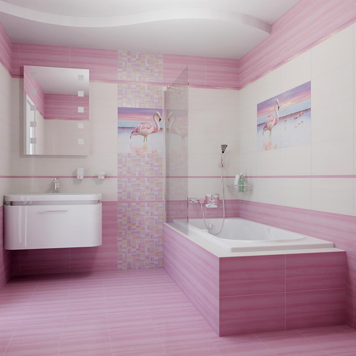 Бордюр «Pink flamingo» 4х50 см
