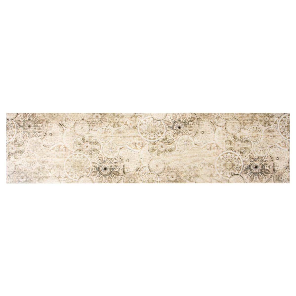 Керамогранит &#34Гриджио декор&#34 15х60 см цвет светло-бежевый