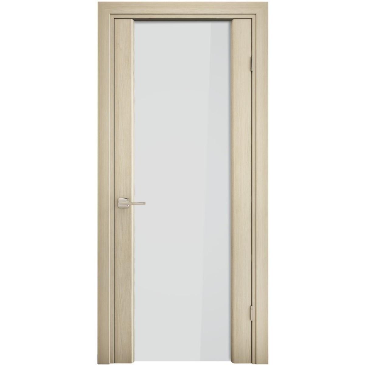 Дверь межкомнатная остеклённая «Триплекс» 200х80 см экошпон цвет орех капучино