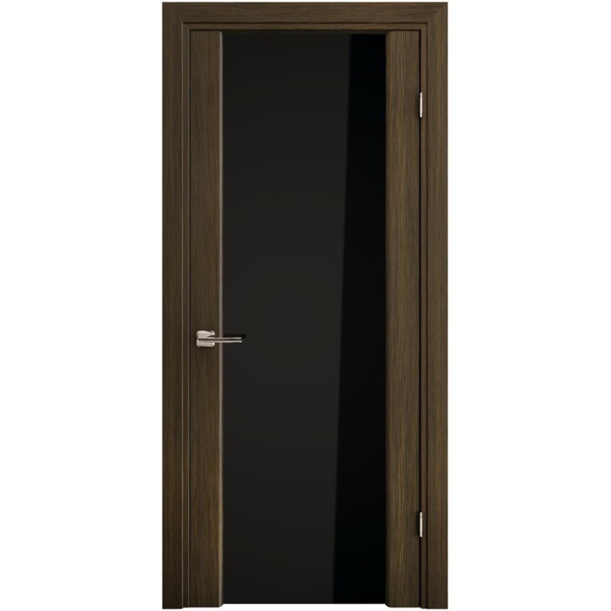 Дверь межкомнатная остеклённая «Триплекс» 200х60 см экошпон цвет орех африканский