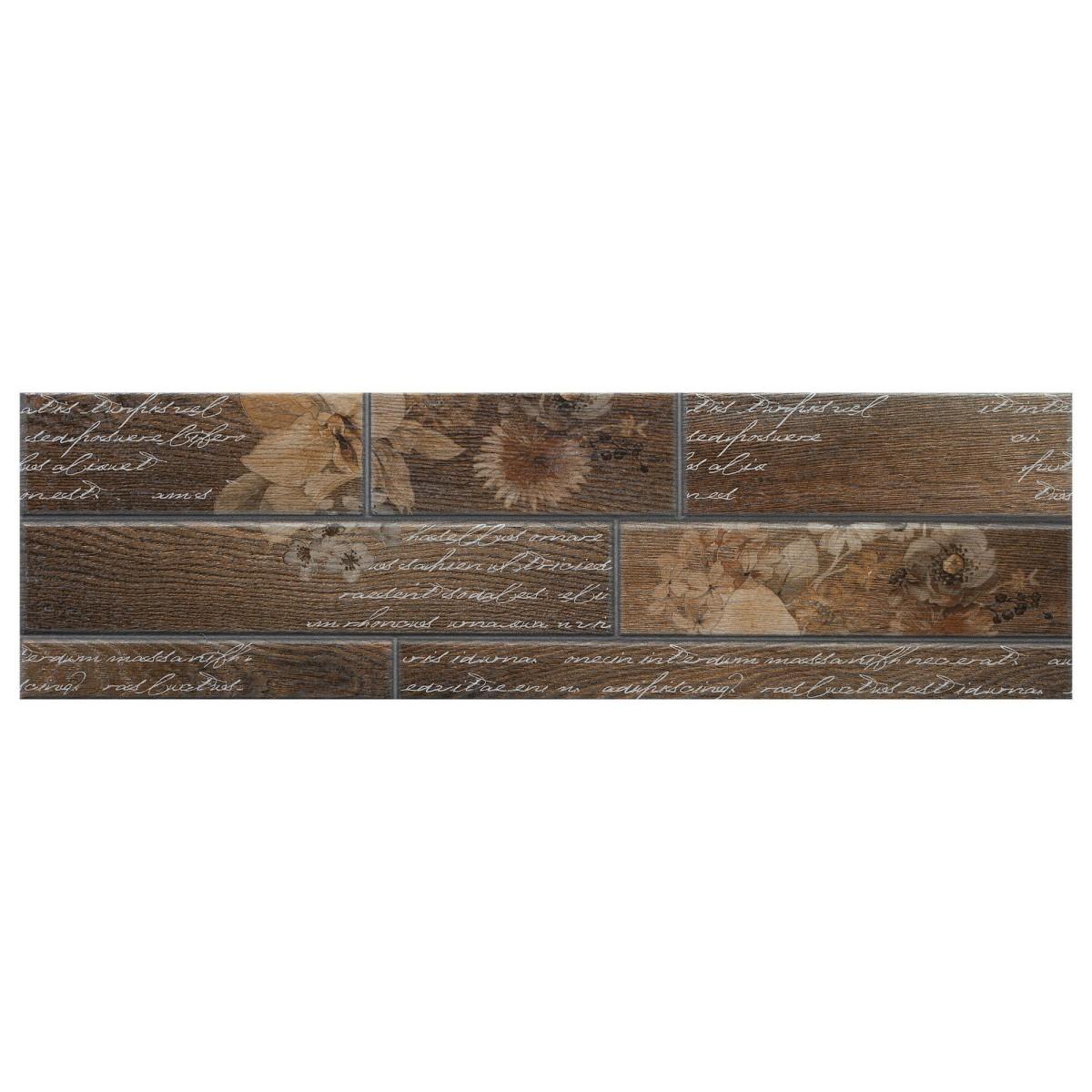 Декор «Dream» 15х50 см цвет коричневый
