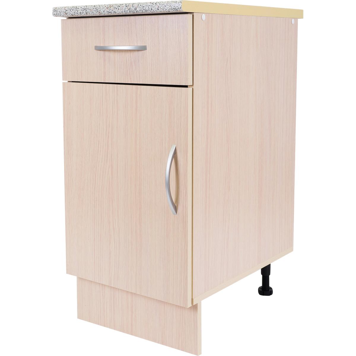 Шкаф напольный Дуб Молочный Д с фасадом и одним ящиком 86х40 см цвет дуб