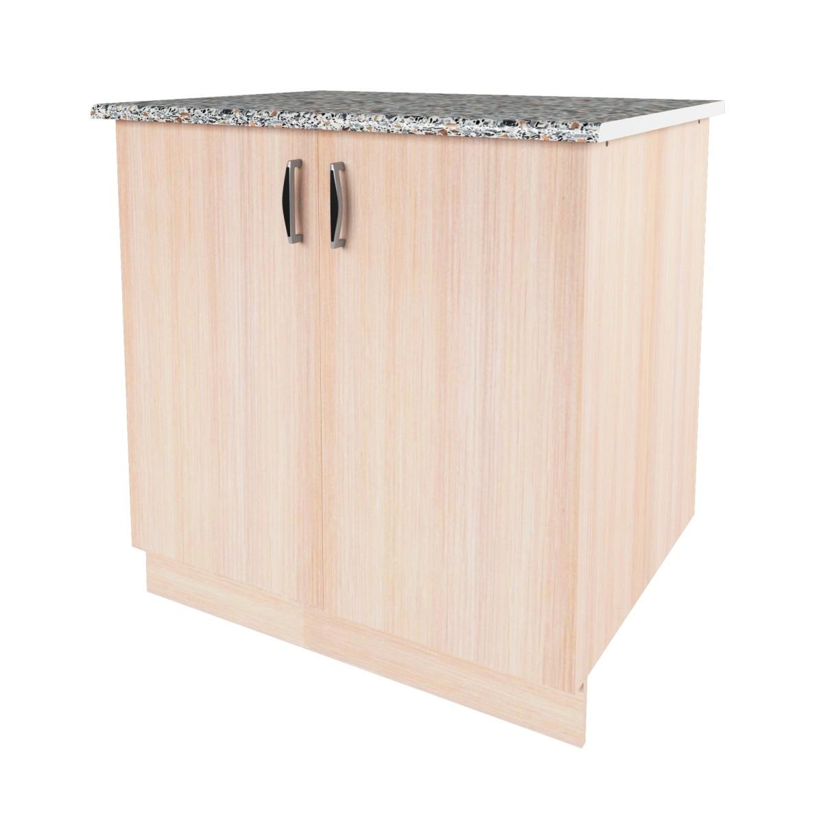 Шкаф напольный Дуб Молочный Д 86х80 см цвет дуб