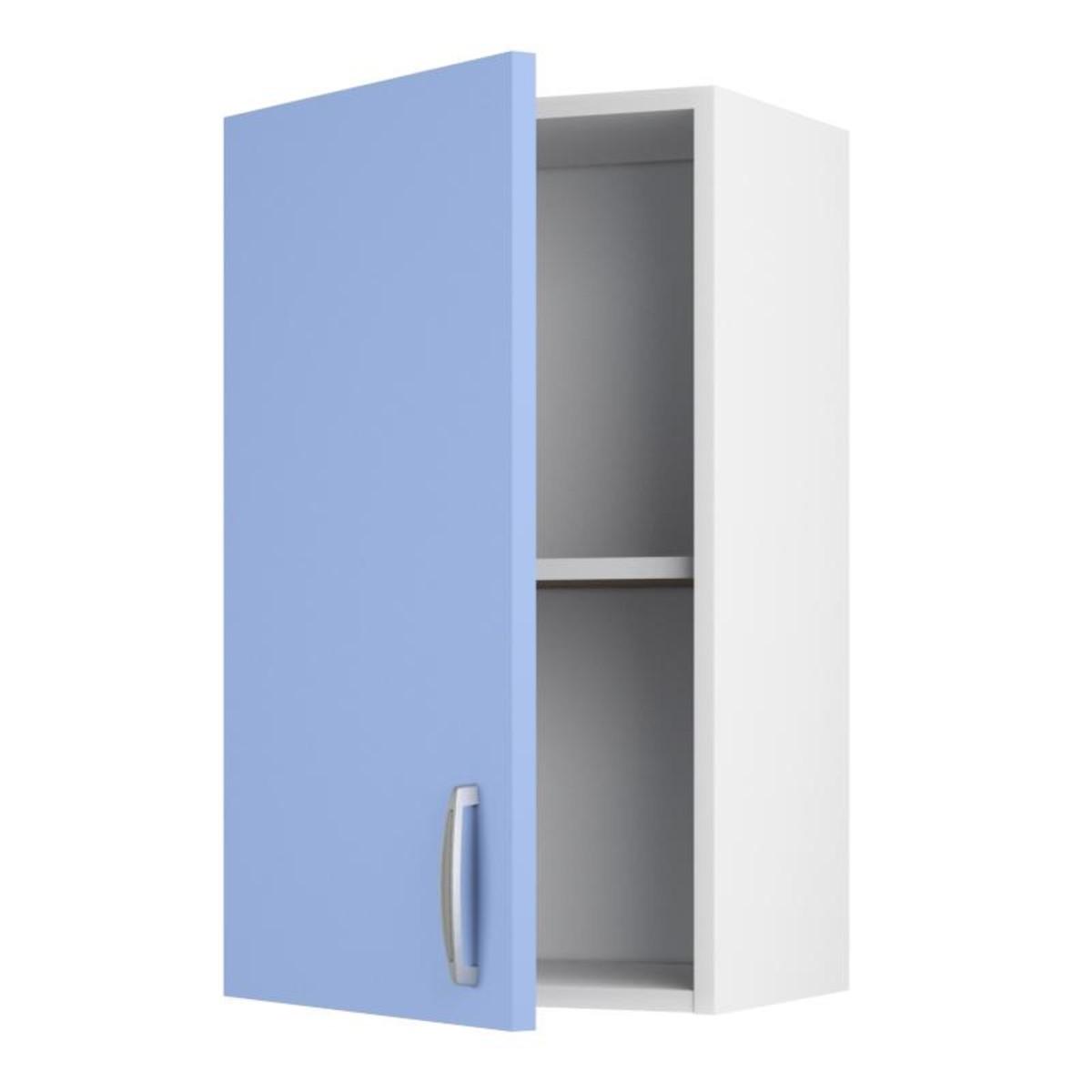 Шкаф навесной Лагуна Д 676х40 см цвет голубой