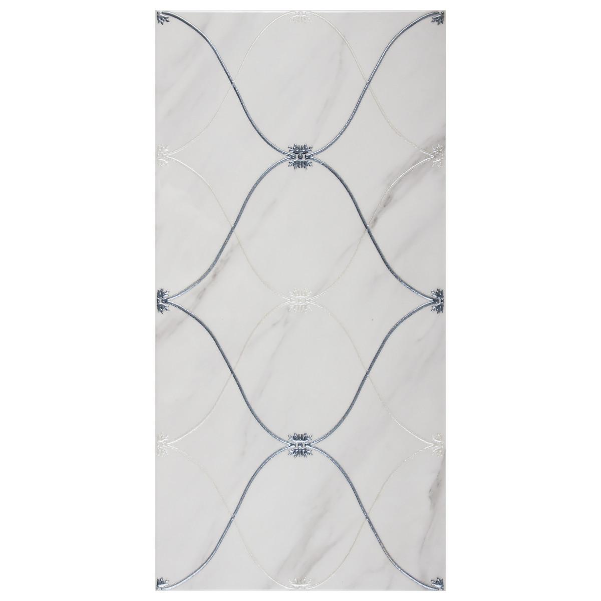 Вставка Carrara Triana 25х50 см цвет белый