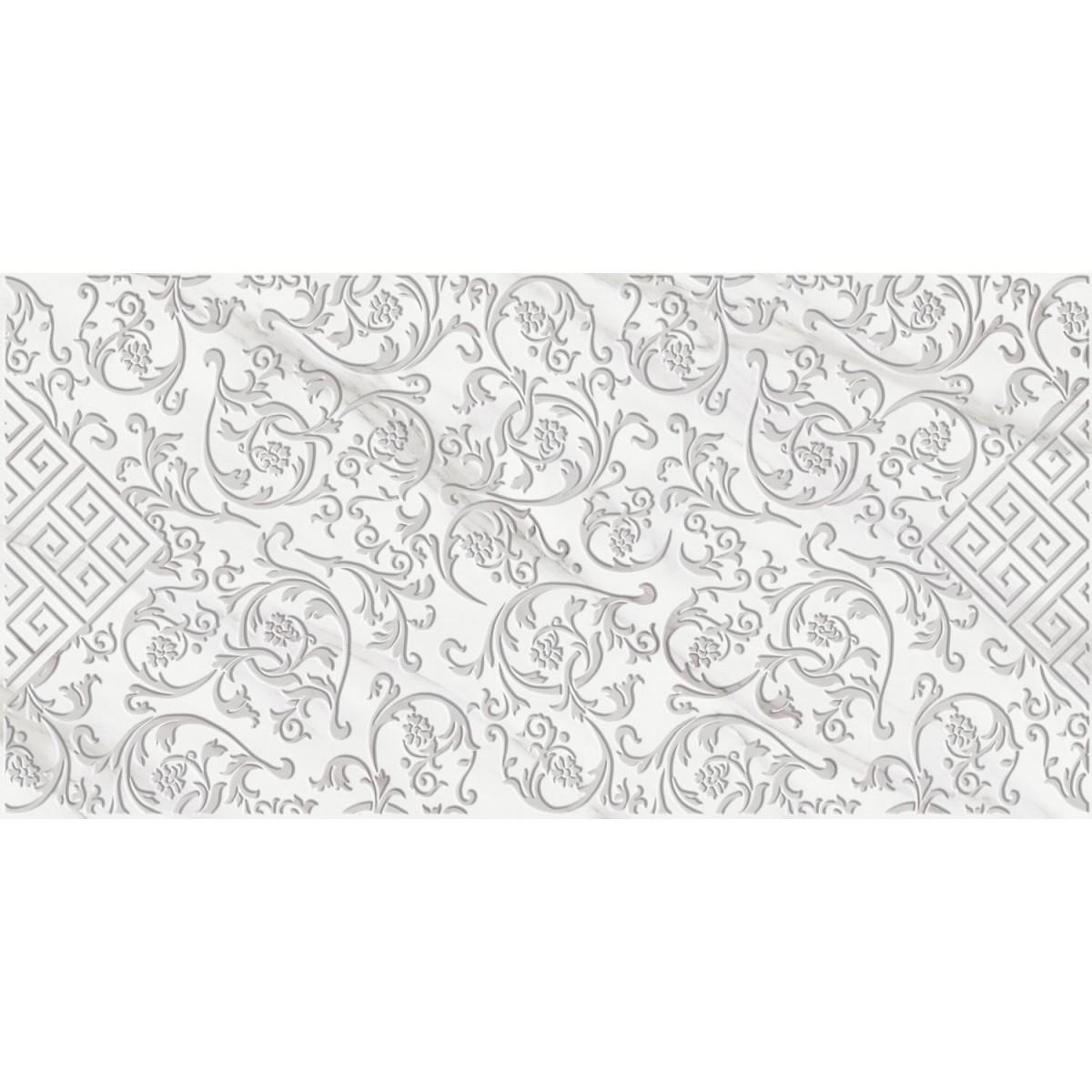 ДекорCarrara Antika 25х50 см цвет белый